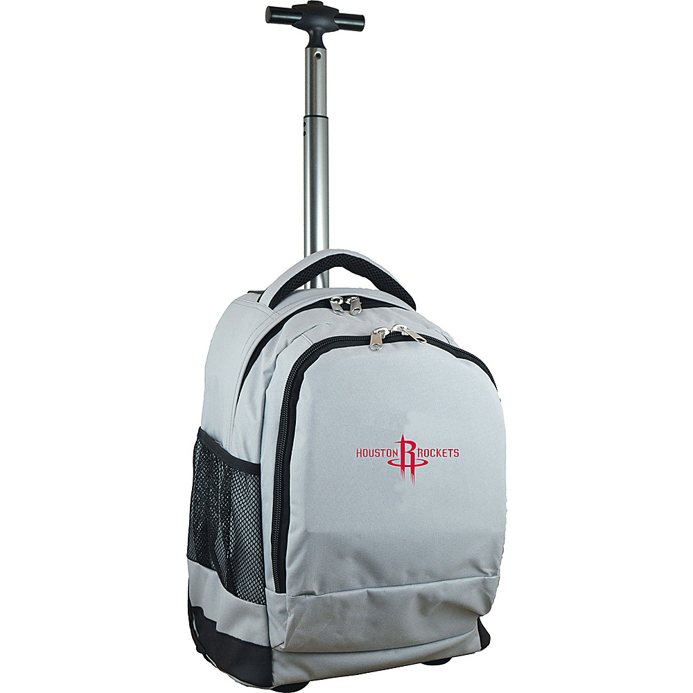 MOJO Denco NBA Premium Laptop Rolling Backpack Houston Rockets - MOJO Denco Rolling Backpacks - Backpacks, Rolling Backpacks