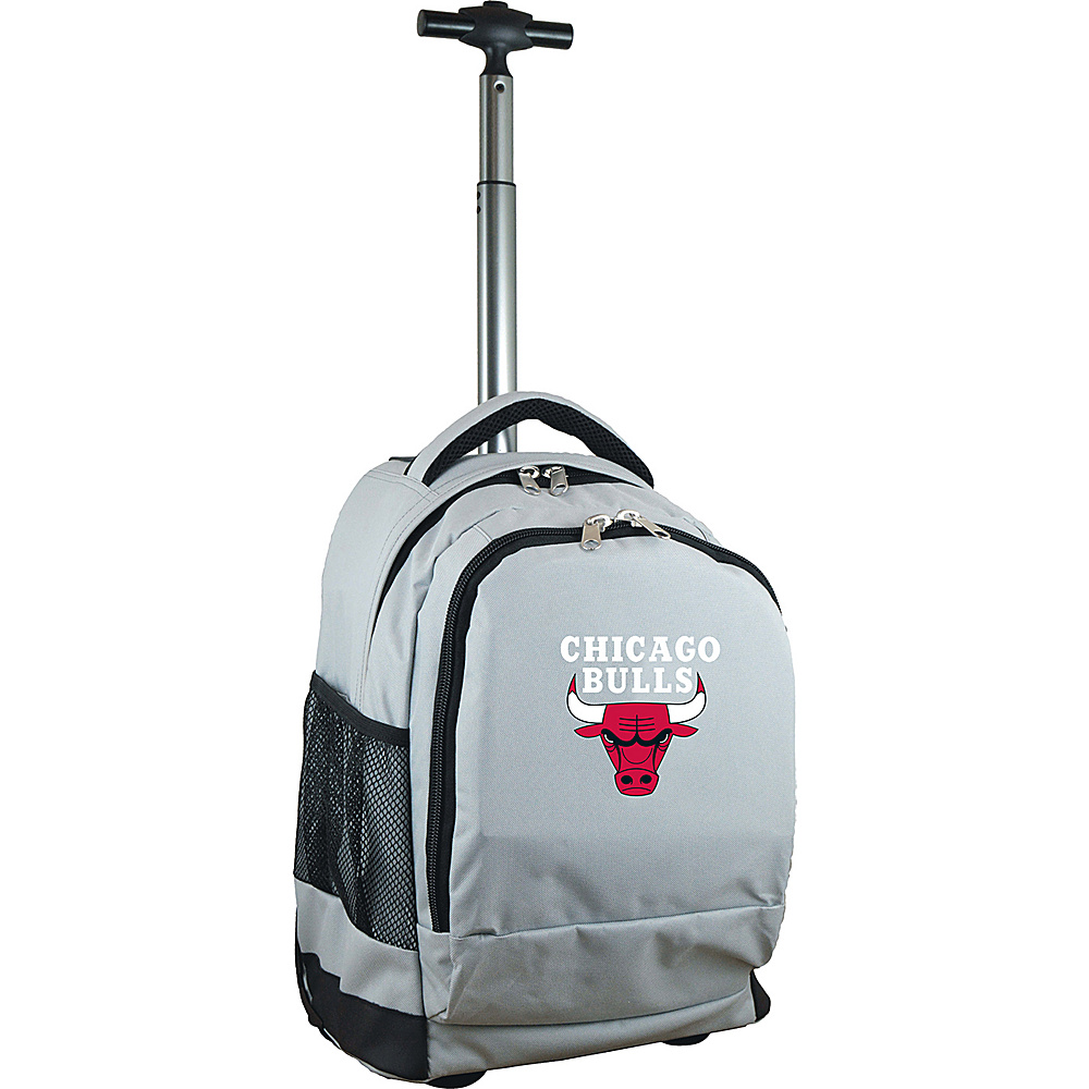 MOJO Denco NBA Premium Laptop Rolling Backpack Chicago Bulls - MOJO Denco Rolling Backpacks - Backpacks, Rolling Backpacks