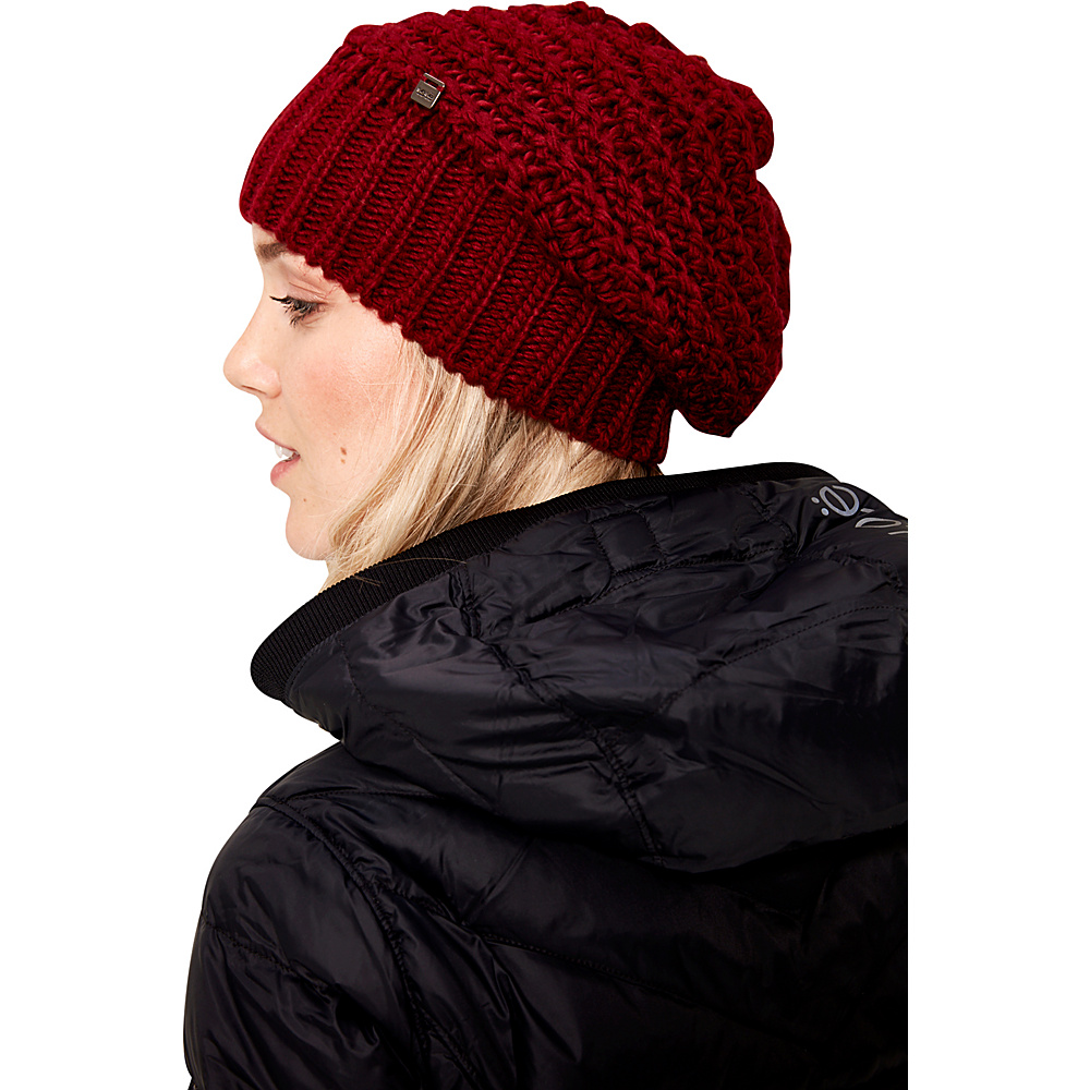 Lole Waffle Knit Slouch One Size - Cabernet - Lole Hats/Gloves/Scarves - Fashion Accessories, Hats/Gloves/Scarves