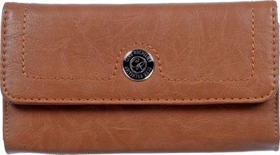 Club Rochelier Clutch Wallet with Outside Pocket Tans - Club Rochelier Women's Wallets