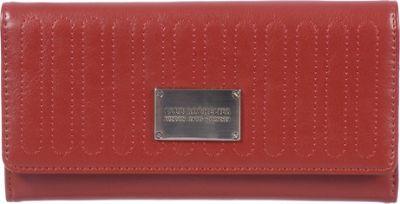 Club Rochelier Slim Clutch Wallet Red - Club Rochelier Women's Wallets