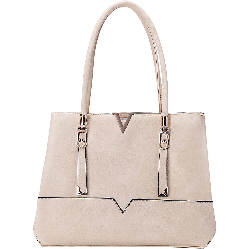 MKF Collection by Mia K. Farrow Flora Shoulder Bag Beige - MKF Collection by Mia K. Farrow Manmade Handbags - Handbags, Manmade Handbags