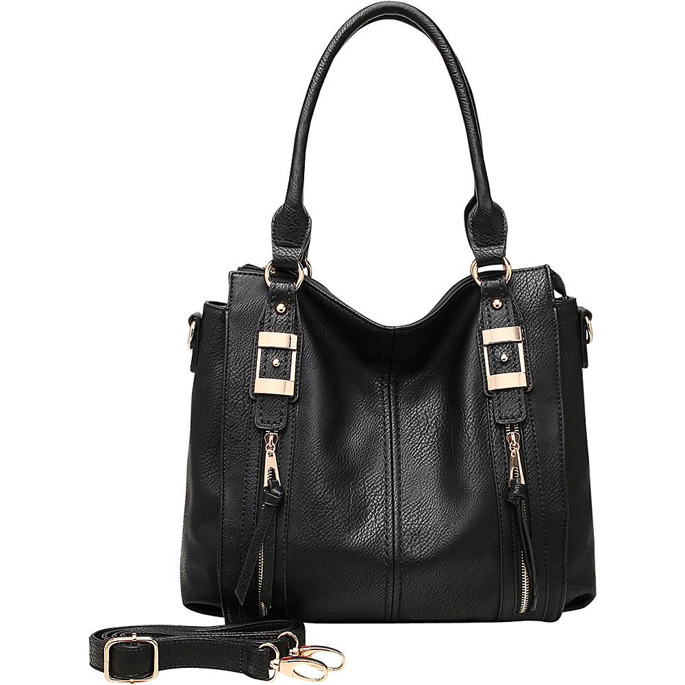 MKF Collection by Mia K. Farrow Blue Eva Hobo Black - MKF Collection by Mia K. Farrow Manmade Handbags - Handbags, Manmade Handbags