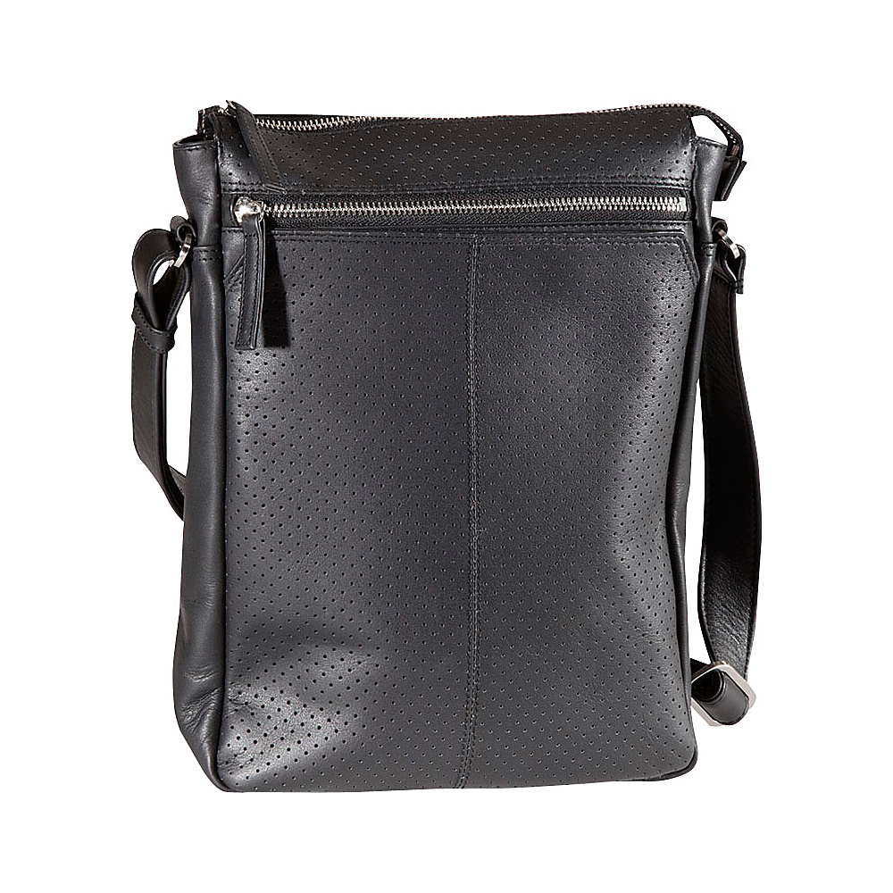 Derek Alexander N/S Top Zip Crossbody Black - Derek Alexander Leather Handbags - Handbags, Leather Handbags