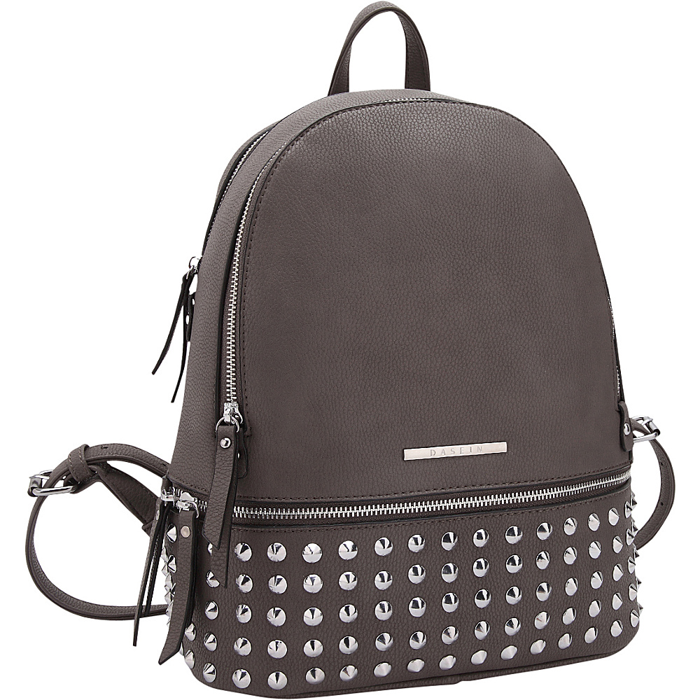 Dasein Medium Studded Backpack Grey - Dasein Manmade Handbags - Handbags, Manmade Handbags