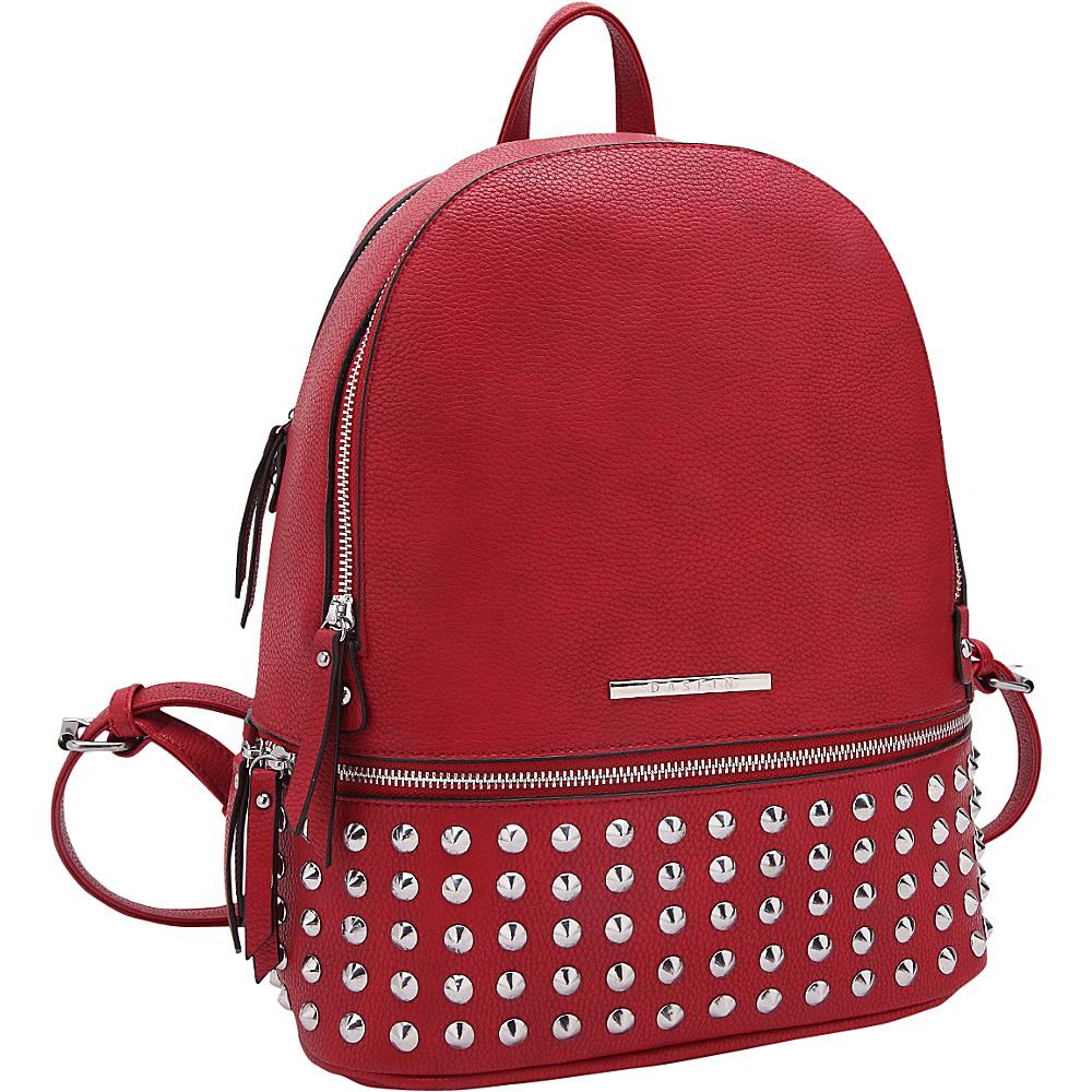 Dasein Medium Studded Backpack Red - Dasein Manmade Handbags - Handbags, Manmade Handbags