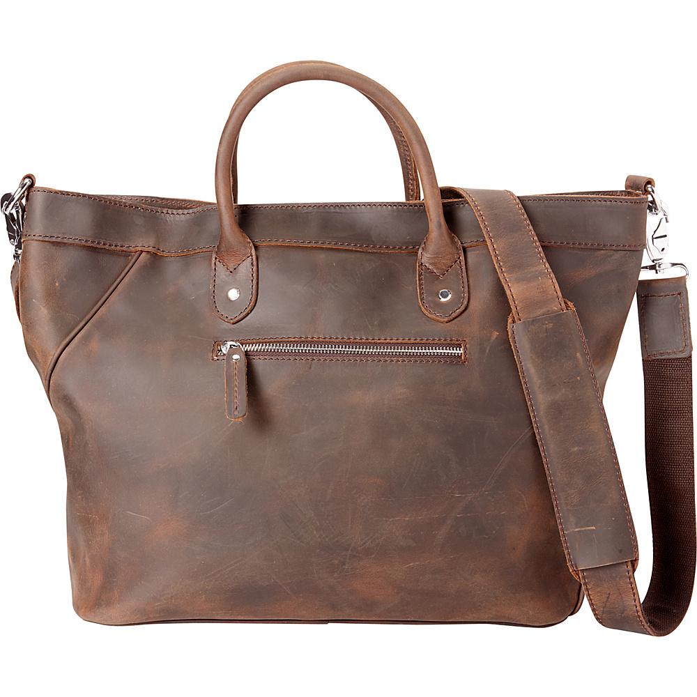 Vagabond Traveler 18 Large Satchel Dark Brown - Vagabond Traveler Leather Handbags - Handbags, Leather Handbags