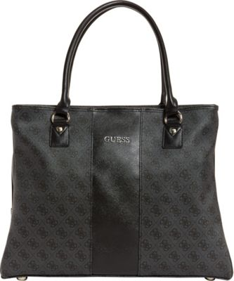 GUESS Travel Nissana Shopper Tote Charcoal with Silver Hardware - GUESS Travel Luggage Totes and Satchels