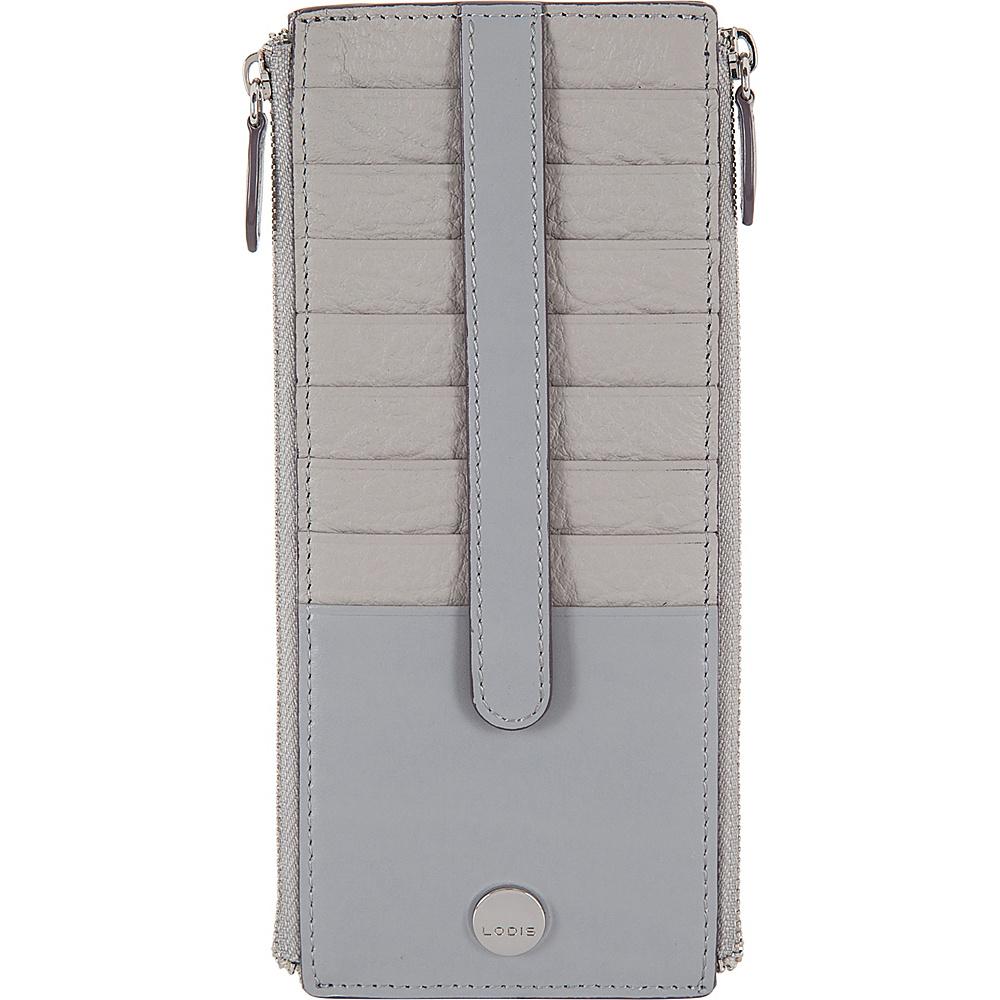 Lodis In The Mix RFID Joan Double Zip Card Case Cement - Lodis Womens Wallets - Women's SLG, Women's Wallets