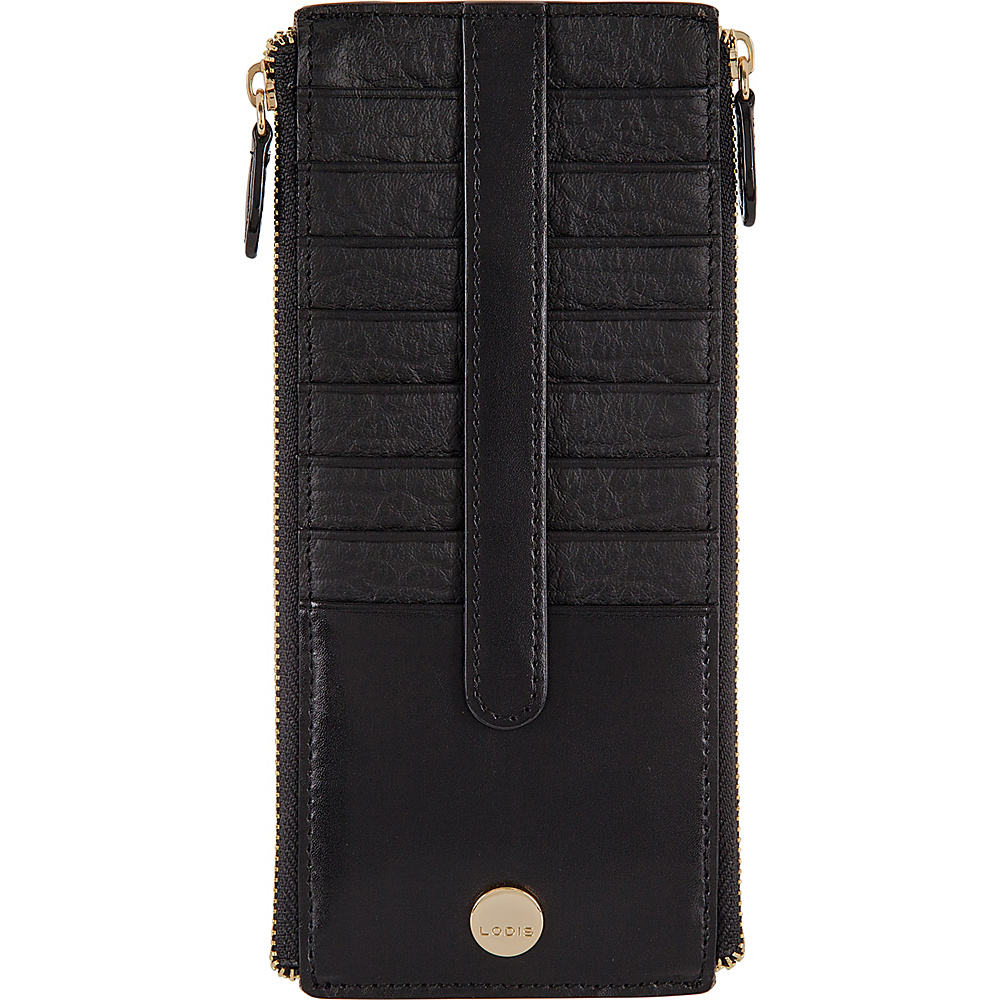 Lodis In The Mix RFID Joan Double Zip Card Case Jet - Lodis Womens Wallets - Women's SLG, Women's Wallets
