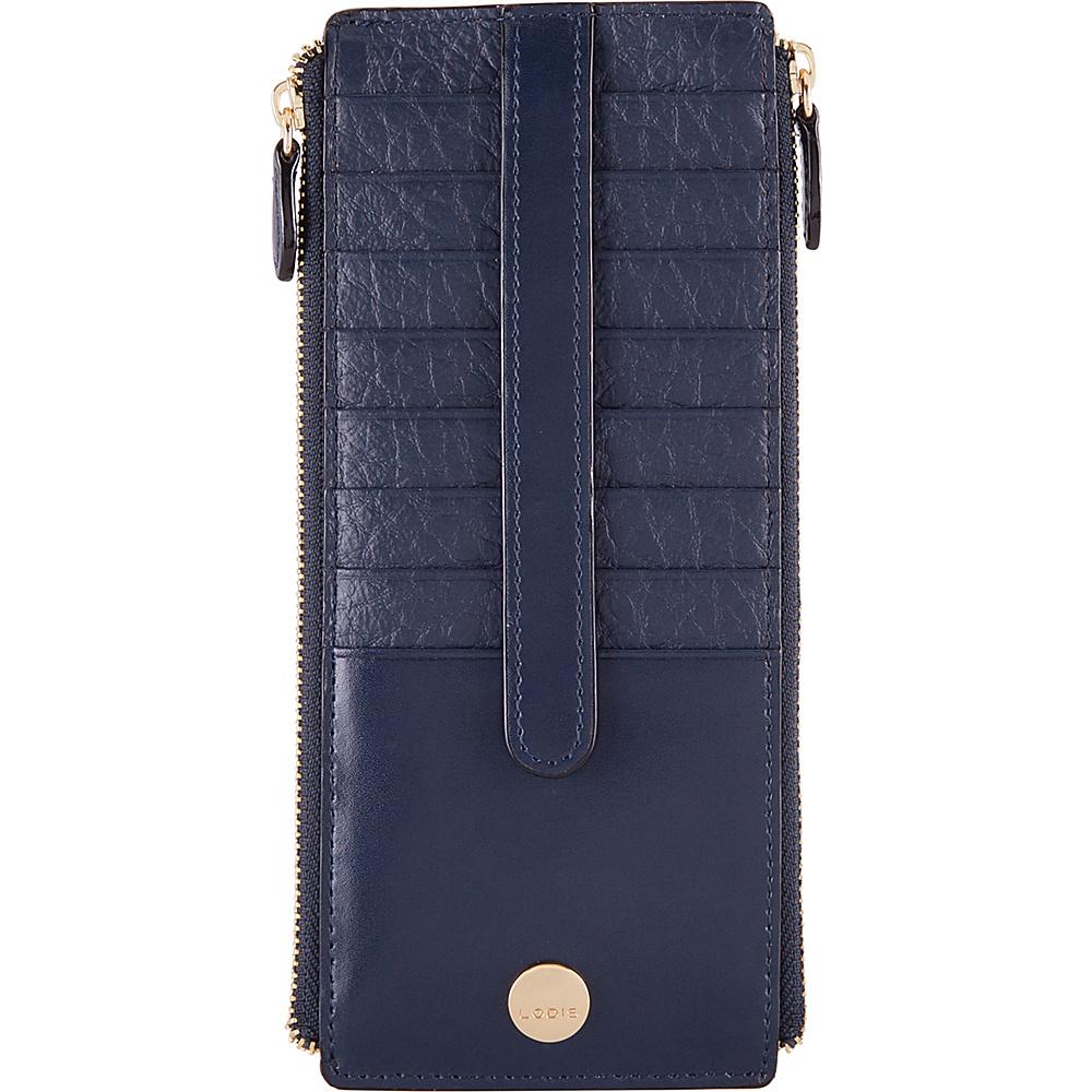 Lodis In The Mix RFID Joan Double Zip Card Case Navy - Lodis Womens Wallets - Women's SLG, Women's Wallets