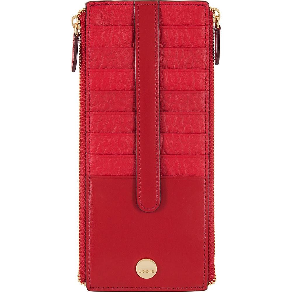 Lodis In The Mix RFID Joan Double Zip Card Case Red - Lodis Womens Wallets - Women's SLG, Women's Wallets