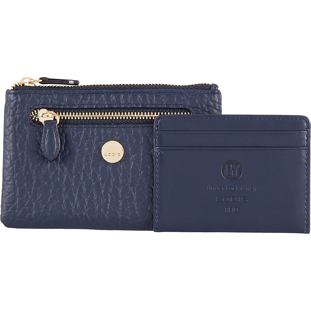 Lodis In The Mix RFID Bev Card Key Coin Navy - Lodis Womens Wallets - Women's SLG, Women's Wallets