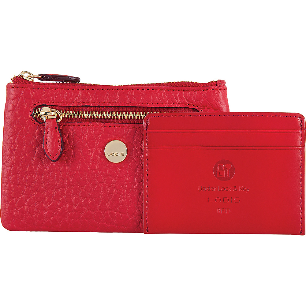 Lodis In The Mix RFID Bev Card Key Coin Red - Lodis Womens Wallets - Women's SLG, Women's Wallets