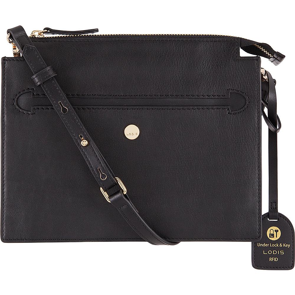 Lodis Downtown RFID Kay Accordion Crossbody Black - Lodis Leather Handbags - Handbags, Leather Handbags