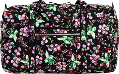 Vera Bradley Iconic Large Travel Duffel Winter Berry - Vera Bradley Travel Duffels