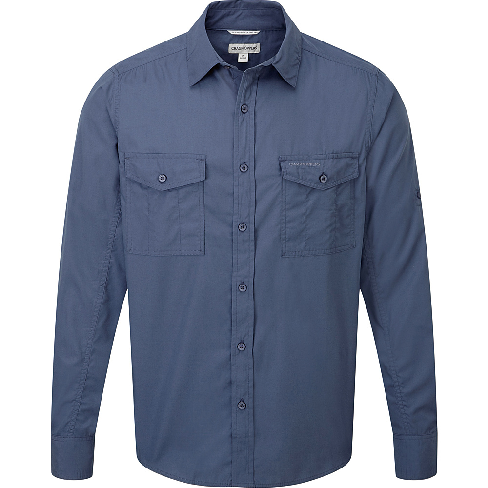 Craghoppers Kiwi Long Sleeve Shirt S - Faded Indigo - Craghoppers Mens Apparel - Apparel & Footwear, Men's Apparel
