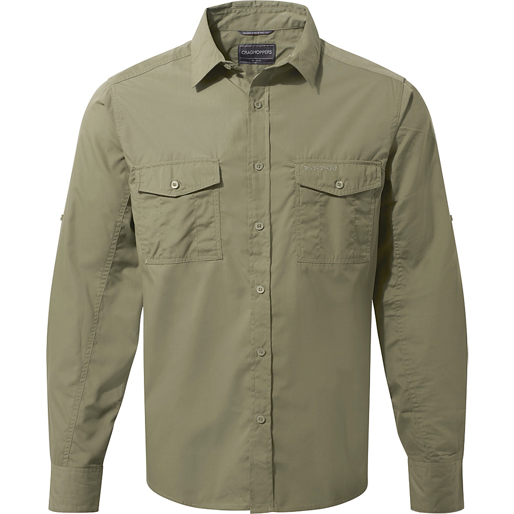 Craghoppers Kiwi Long Sleeve Shirt L - Pebble - Craghoppers Mens Apparel - Apparel & Footwear, Men's Apparel