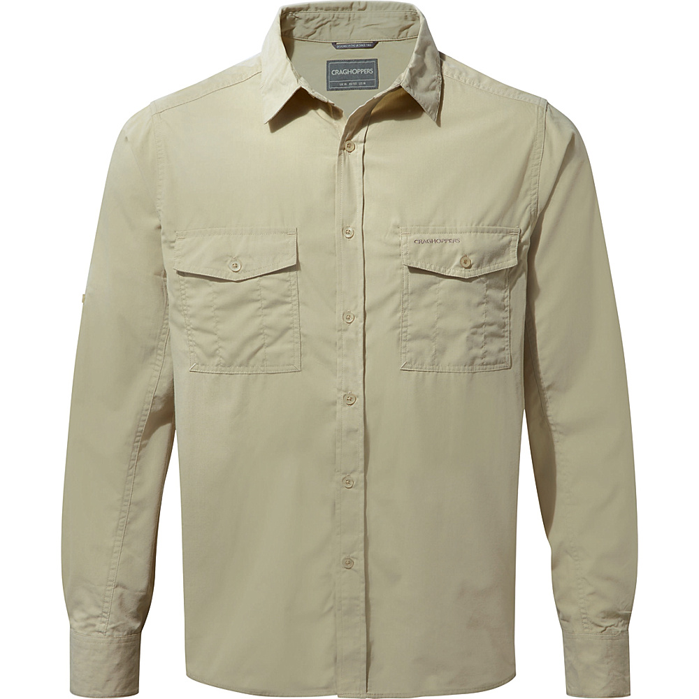 Craghoppers Kiwi Long Sleeve Shirt 3XL - Oatmeal - Craghoppers Mens Apparel - Apparel & Footwear, Men's Apparel