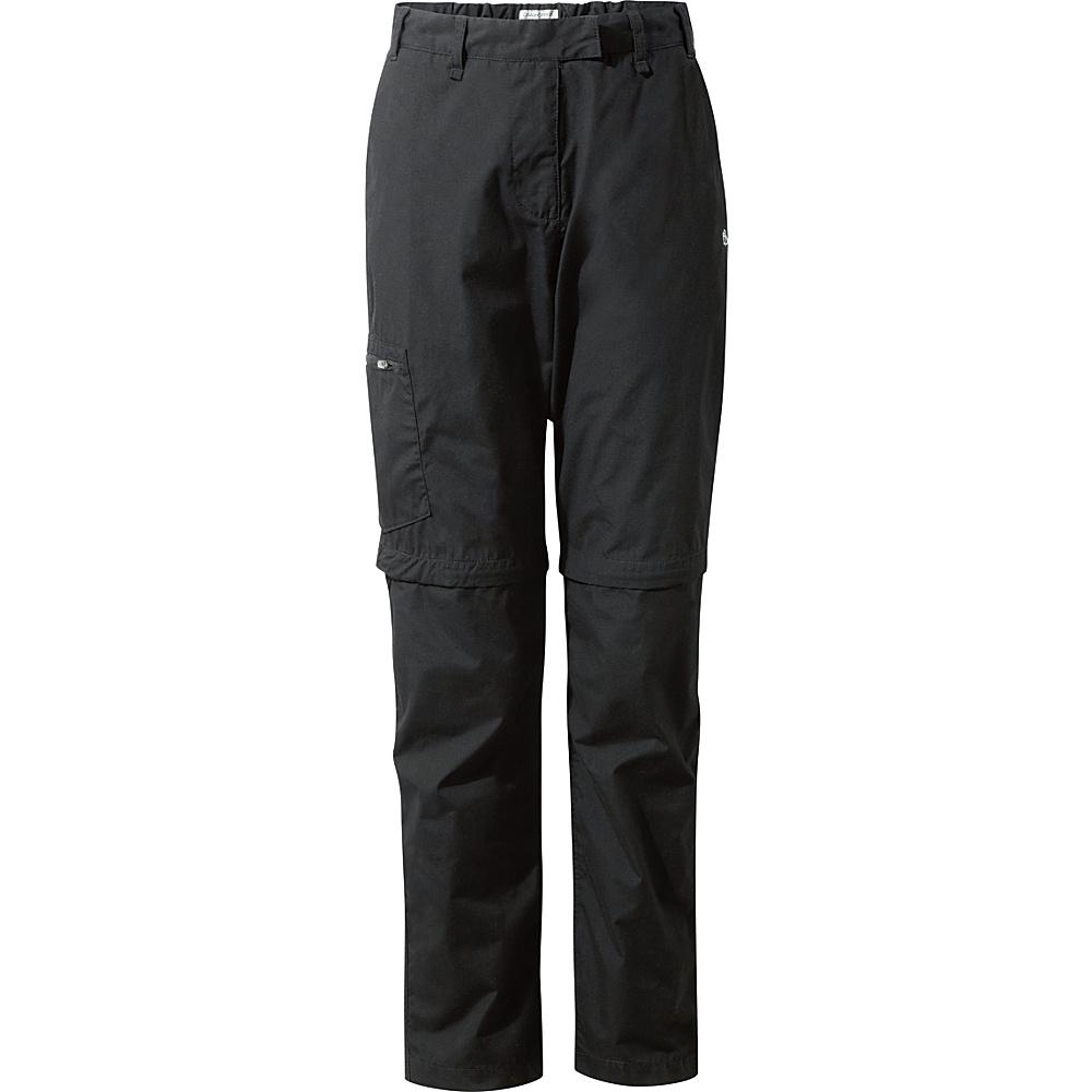 Craghoppers Classic Kiwi II Convertible Trousers 8 - Regular - Black - Craghoppers Womens Apparel - Apparel & Footwear, Women's Apparel