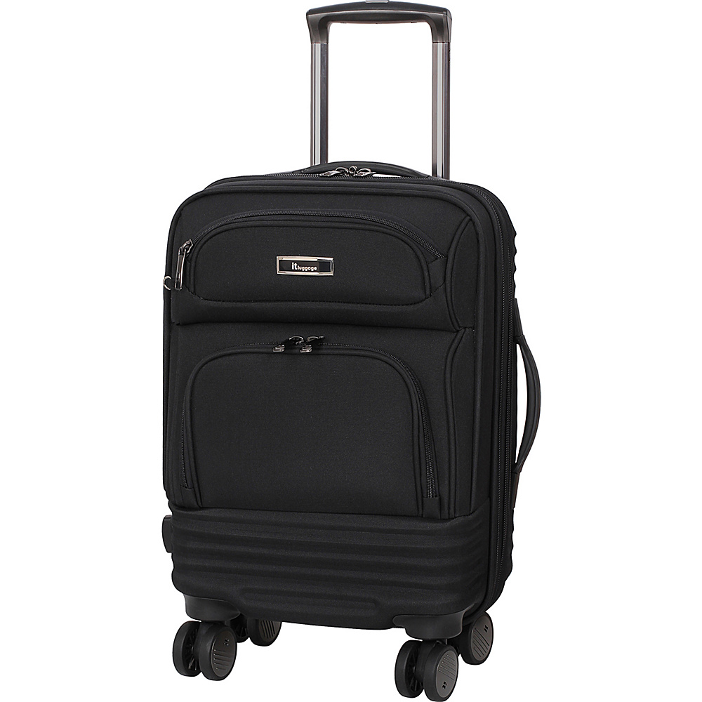 it luggage Beetle Frameless 20.5 Expandable Carry-On Spinner Luggage Black - it luggage Softside Carry-On