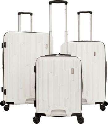 Gabbiano Avila 3 Piece Expandable Hardside Spinner Luggage Set White - Gabbiano Luggage Sets