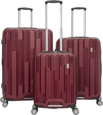 Gabbiano Avila 3 Piece Expandable Hardside Spinner Luggage Set Burgundy - Gabbiano Luggage Sets