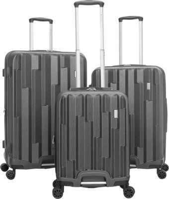Gabbiano Avila 3 Piece Expandable Hardside Spinner Luggag...