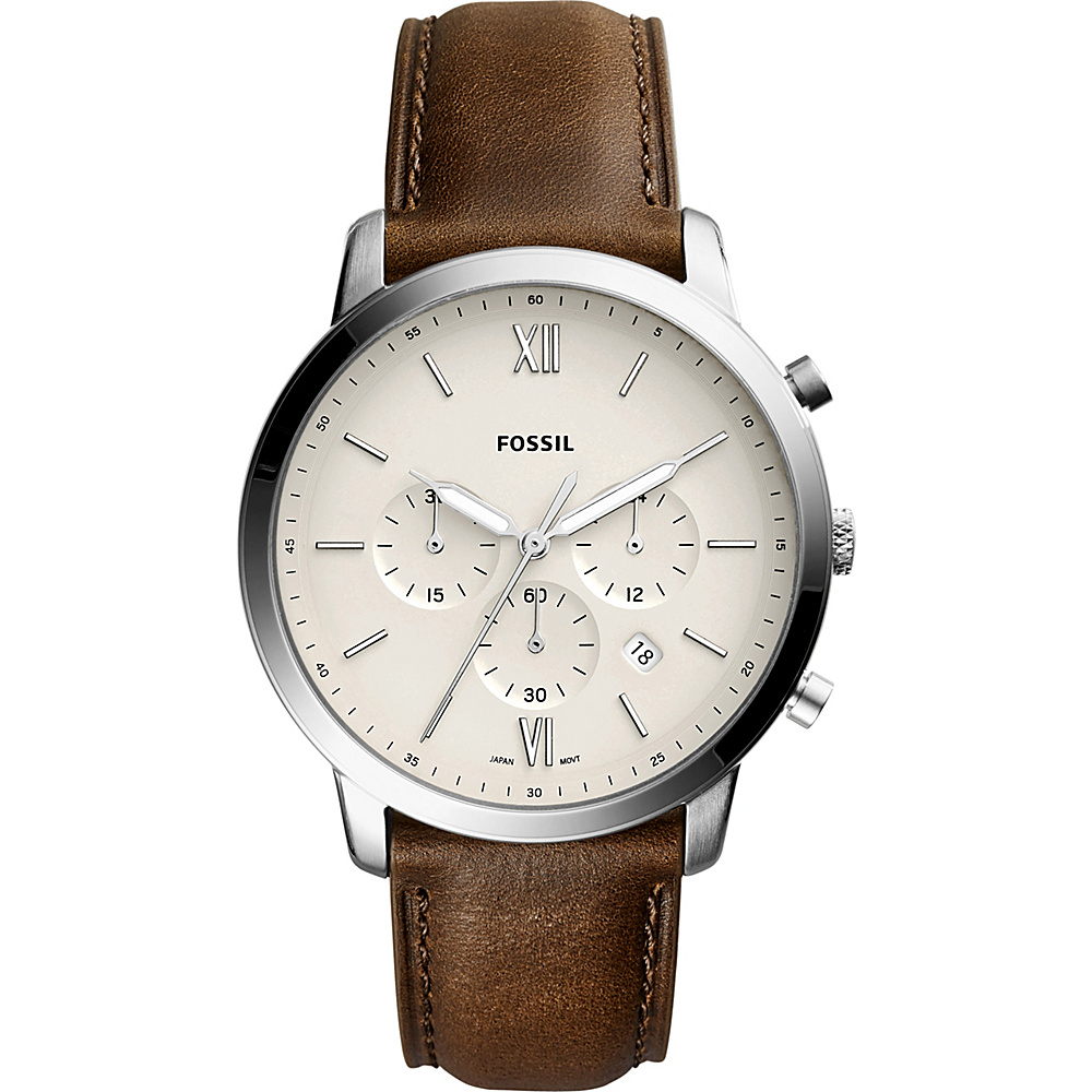 Fossil Neutra Chronograph Leather Watch Brown - Fossil Watches - Fashion Accessories, Watches