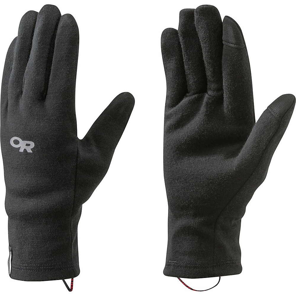 Outdoor Research Wooly Sensor Liners XS - Black - Outdoor Research Hats/Gloves/Scarves - Fashion Accessories, Hats/Gloves/Scarves