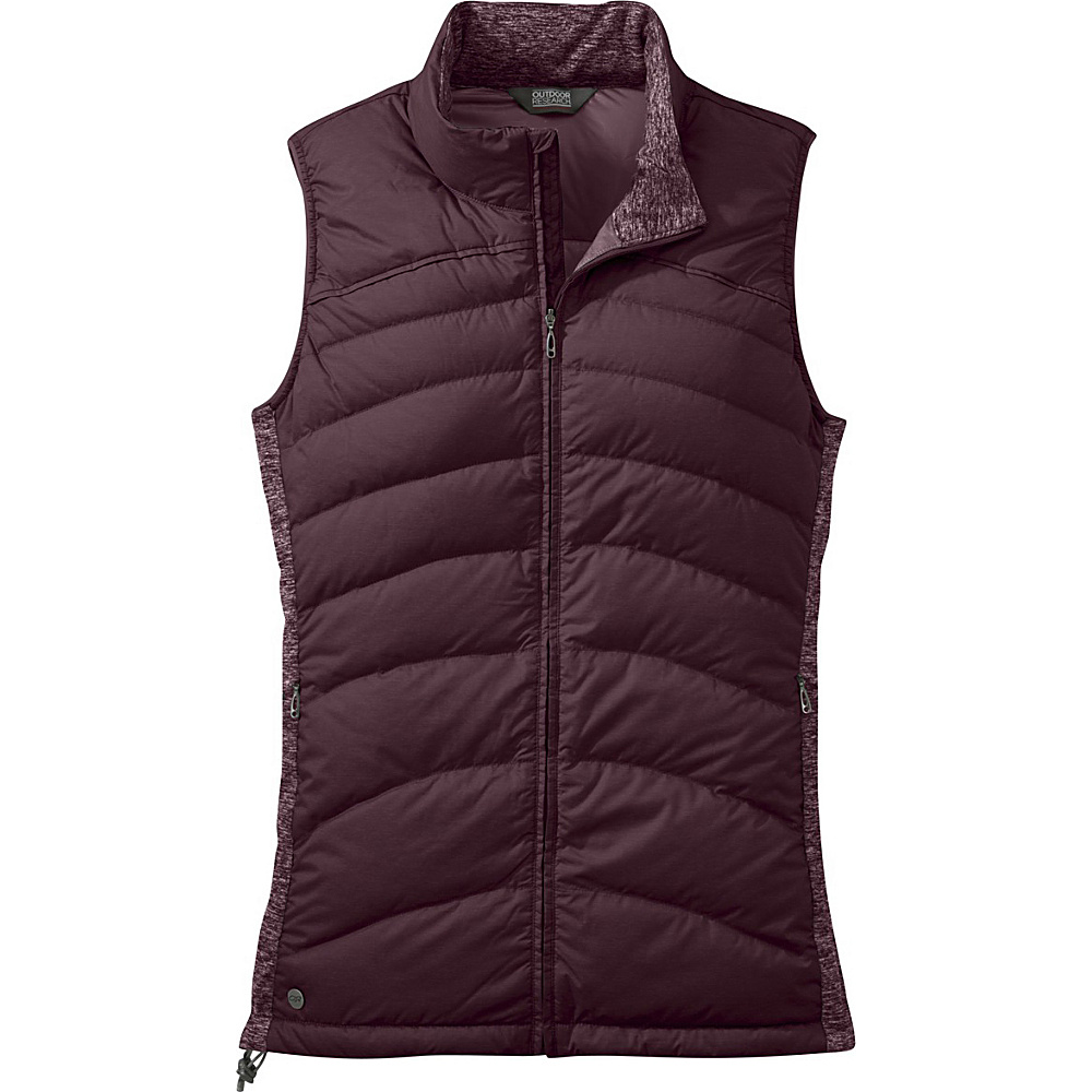 Outdoor Research Womens Insulated Plaza Down Vest L - Pinot - Outdoor Research Womens Apparel - Apparel & Footwear, Women's Apparel