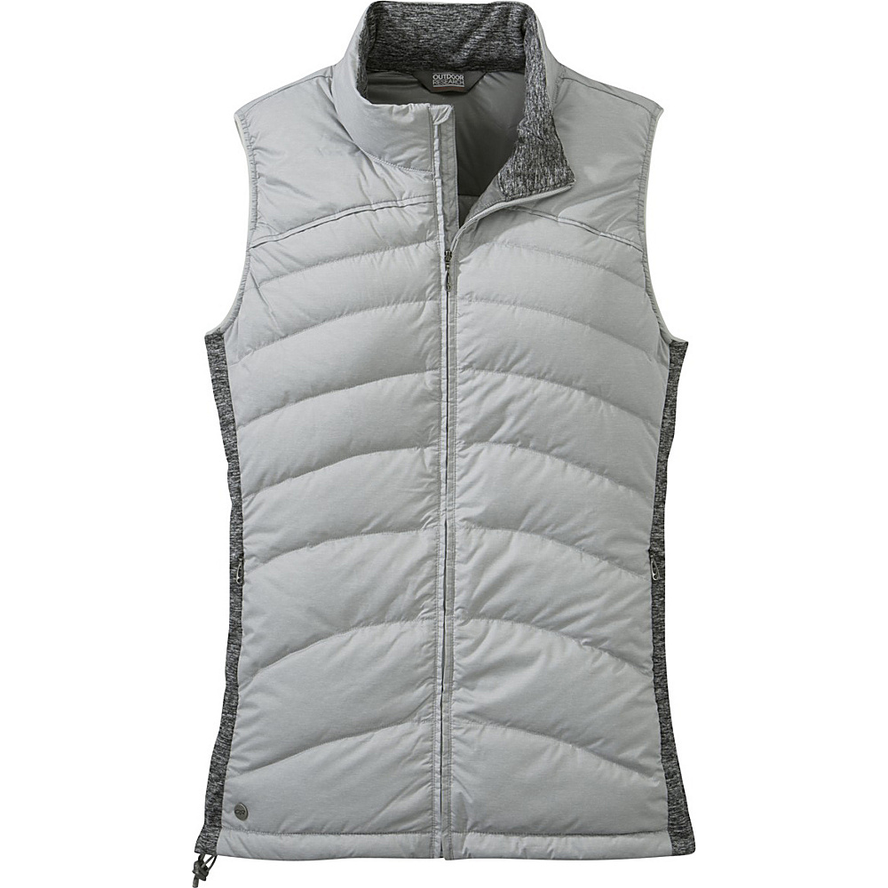 Outdoor Research Womens Insulated Plaza Down Vest L - Alloy/Black - Outdoor Research Womens Apparel - Apparel & Footwear, Women's Apparel