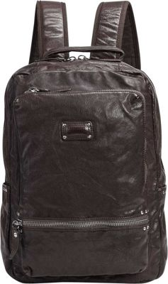 Old Trend Old Trend Stark Stud Backpack Brown - Old Trend Leather Handbags