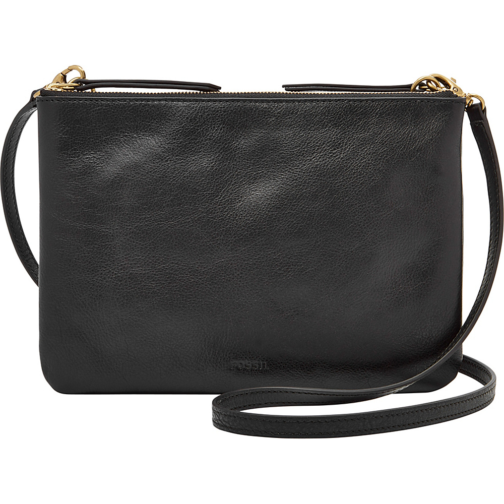 Fossil Devon Crossbody Black - Fossil Leather Handbags - Handbags, Leather Handbags