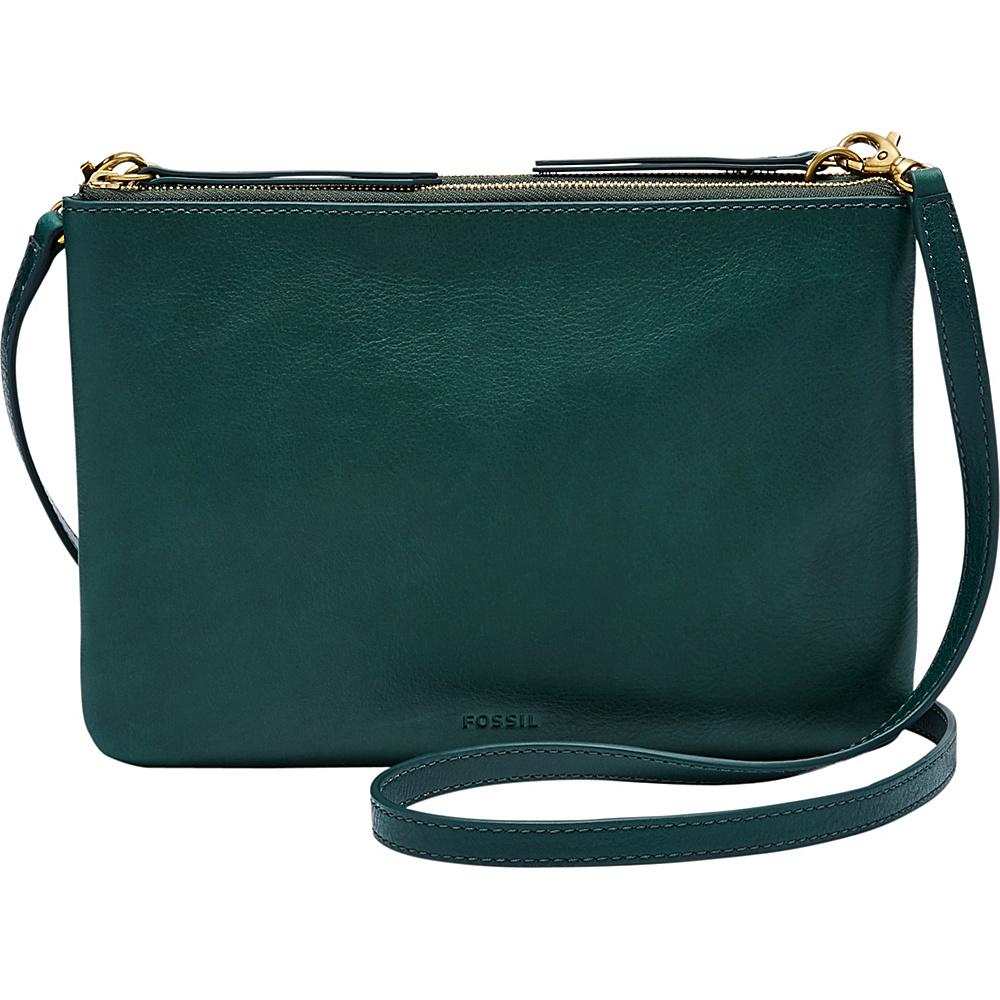 Fossil Devon Crossbody Alpine Green - Fossil Leather Handbags - Handbags, Leather Handbags