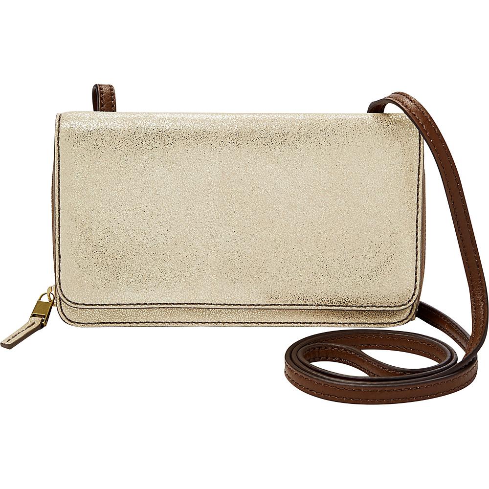 Fossil Brynn Mini Bag Gold - Fossil Leather Handbags - Handbags, Leather Handbags