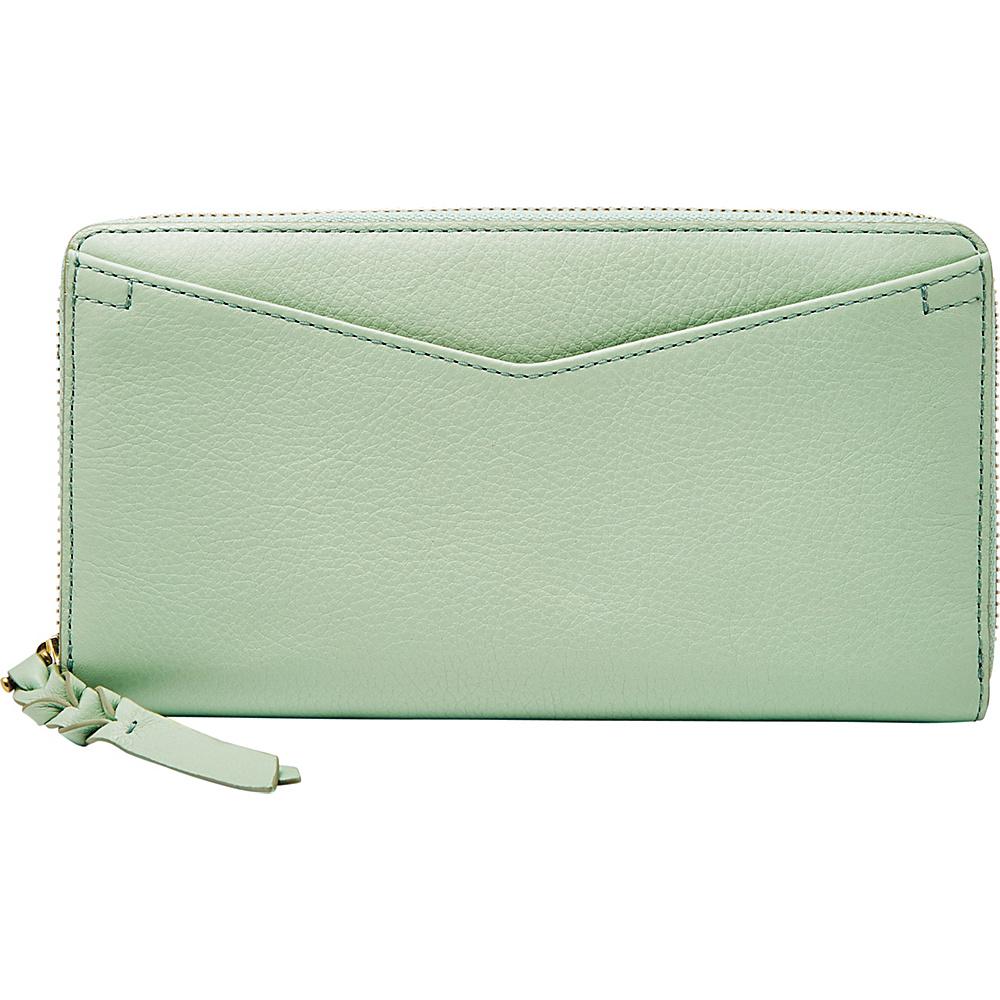 Fossil Caroline RFID Zip Around Wallet Misty Jade - Fossil Womens Wallets - Women's SLG, Women's Wallets