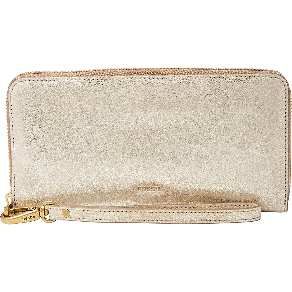 Fossil Emma RFID Large Zip Clutch Gold - Fossil Womens Wallets - Women's SLG, Women's Wallets