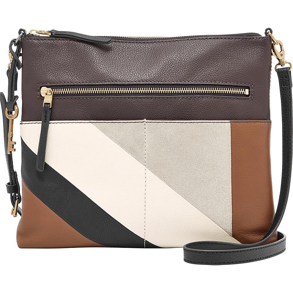 Fossil Fiona Large Crossbody Neutral Stripe - Fossil Leather Handbags - Handbags, Leather Handbags