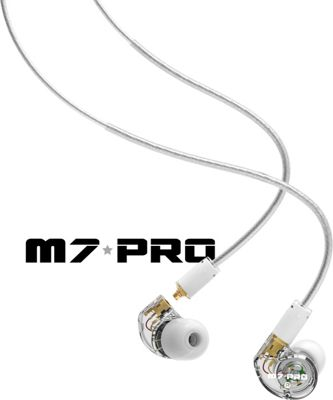 MEE Audio M7 PRO Hybrid Dual-Driver Musicians In-Ear Monitors with Detachable Cables White - MEE Audio Headphones & Speakers