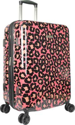 Isaac Mizrahi Gabby 29 inch 8-Wheel Hardside Spinner Checked Luggage Pink - Isaac Mizrahi Hardside Checked