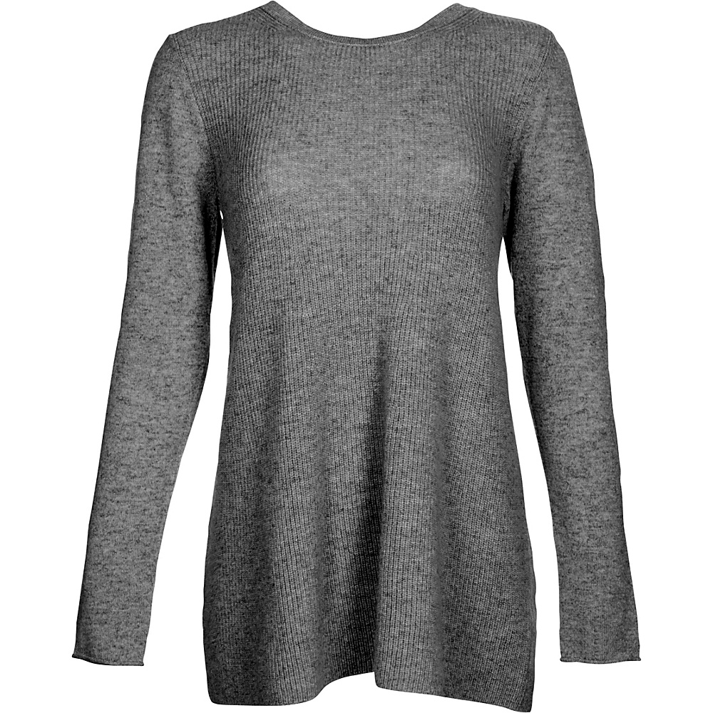 Kinross Cashmere Rib Swing Pullover XS - Charcoal - Kinross Cashmere Womens Apparel - Apparel & Footwear, Women's Apparel