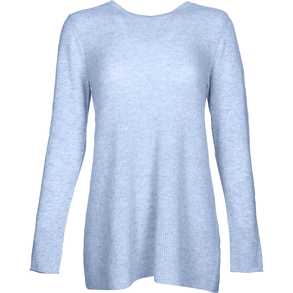 Kinross Cashmere Rib Swing Pullover M - Ceil - Kinross Cashmere Womens Apparel - Apparel & Footwear, Women's Apparel