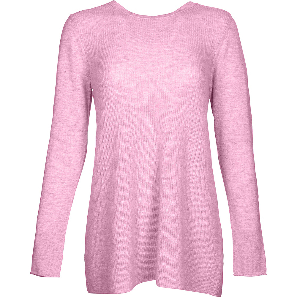 Kinross Cashmere Rib Swing Pullover M - Orchid - Kinross Cashmere Womens Apparel - Apparel & Footwear, Women's Apparel