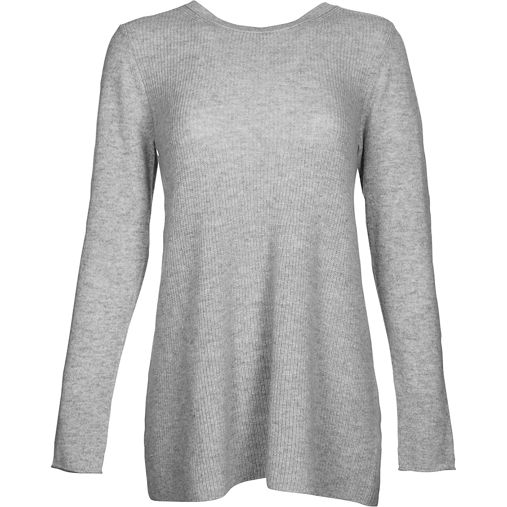 Kinross Cashmere Rib Swing Pullover M - Sterling - Kinross Cashmere Womens Apparel - Apparel & Footwear, Women's Apparel