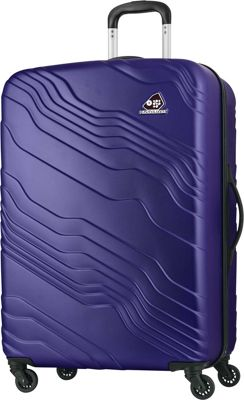 Kamiliant Kanyon 28 inch Hardside Checked Spinner Luggage Royal Blue - Kamiliant Hardside Checked
