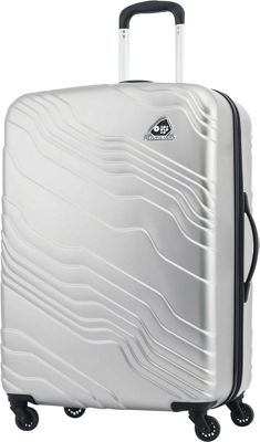 Kamiliant Kanyon 28 inch Hardside Checked Spinner Luggage Silver - Kamiliant Hardside Checked