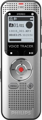 Philips Speech Voice Tracer with Stereo Digital Recorder Silver - Philips Speech Portable Entertainment