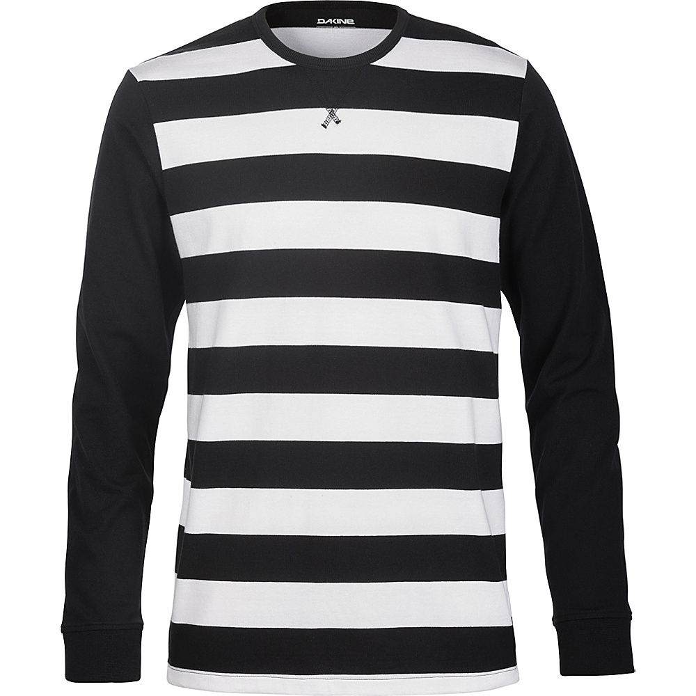 DAKINE Mens Bixby Striped Jersey L - Black/White - DAKINE Mens Apparel - Apparel & Footwear, Men's Apparel