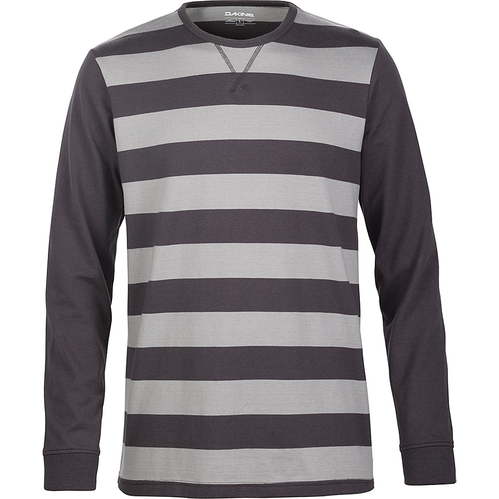 DAKINE Mens Bixby Striped Jersey L - Asphalt/Griffin - DAKINE Mens Apparel - Apparel & Footwear, Men's Apparel